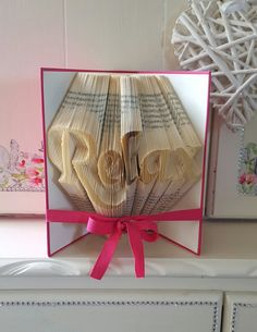 Relax Book Folding Pattern. DIY. Make your own by AnnaMarieBookArt