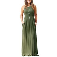 Casual Dresses - Euovmy Women's Short Sleeve Loose Plain Maxi Dresses Casual Long Dresses With Pockets at Women's Clothing store: Plus Size Maxi Dresses, Casual Dresses, Summer Dresses, Beach Dresses, Dress Beach, Women's Casual, Summer Maxi, Summer Shorts, Casual Summer