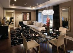Modern living/dinning room