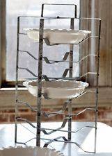 Vintage Antique Style Metal Pie Rack Pastry Cake Farmhouse Country Kitchen