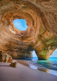 Giant Sea Cave in Algarve, Portugal