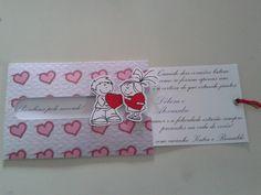 Cartão noivado aberto