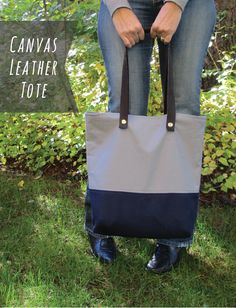 Kollabora All Summit Challenge (DIY canvas leather tote - joy of all crafts)