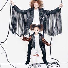 Mom and London fashion jackets.