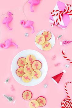 Slice 'n Bake Flamingo Christmas Cookies
