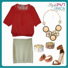 Find the perfect balance between glamorous and classy in this outfit.
