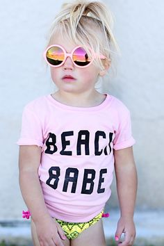 @cocoandscout, Beach Babe, Beach Wear, Fashion for Kids, Graphic Tee, Unique, Beach Style, USA Made.