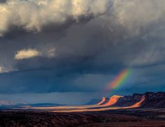 """""""Comb Ridge Rainbow"""" photo by Dave Manley, winner, 2010 Canyon Country Photo Contest."""