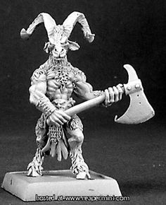 Reaper Miniatures Reven Beastman Woodcutter Reven Unpainted RPG D&D Mini Reaper Miniatures, Fantasy Miniatures, Marvel Minimates, Battle Games, Fantasy Races, Metal Models, Dungeons And Dragons, Action Figures, Beast