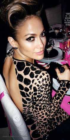 Jennifer Lopez, of course. I absolutely love everything about this woman!