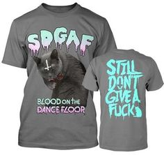 AUTHENTIC BLOOD ON THE DANCE FLOOR SDGAF CAT SATAN CROSS BOTDF T TEE SHIRT S-2XL #BLOODONTHEDANCEFLOOR #GraphicTee