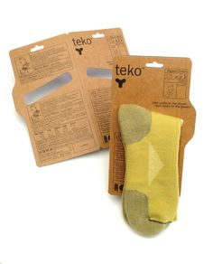 Teko Socks - branding, packaging by Matt Ebbing, via Behance