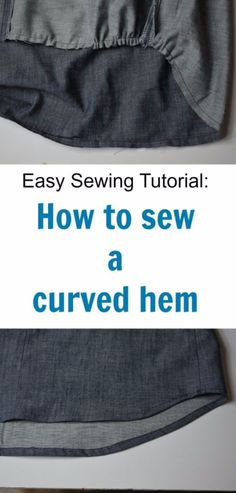 More Sewing Hacks - Sew A Perfect Curved Hem - Best Tips and Tricks for Sewing Patterns, Projects, Machines, Hand Sewn Items. Clever Ideas for Beginners and Even Experts - Easy Tutorials, Patten Shortcuts and How To http://diyjoy.com/best-diy-sewing-hacks