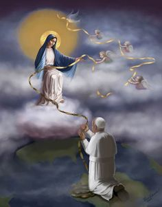 pOPE FRANCIS praying to our Lady Undo-er of knots <3