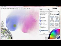 How to Paint with Watercolors in Artrage #5- Blenders