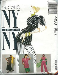 McCall's 4130 NY Collection Jacket Blouse by DawnsDesignBoutique