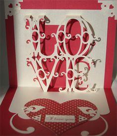 LOVE pop up card.