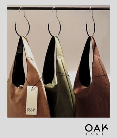 OAK BAGS available in 3 natural colors!