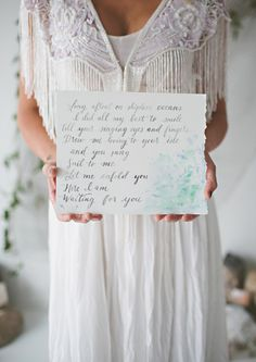 Bohemian sea inspired wedding inspiration | Photo by JessaKae Photography | Read more -  http://www.100layercake.com/blog/?p=84890