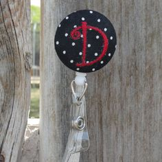 Personalized badge reel, by Stitcheroos $8.00