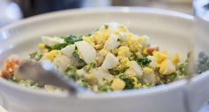 Papas con huevo duro. Una receta ideal para niños mayores de 12 meses.
