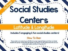 No Prep Social Studies Centers: Latitude and Longitude