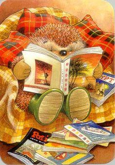 Hedge Hog Reading ~ Country Companions