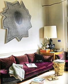 Comfy sofa - zoiets maar dan in zeegroen of blauwig- zou heerlijk zijn!
