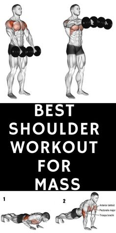 The 5 Best Tricep Exercises for Mass - Fitness Times Shoulder Workouts For Men, Shoulder Workout Routine, Shoulder Workout At Home, Shoulder Exercises, Best Tricep Exercises, Triceps Workout, Weight Lifting, Weight Loss Tips, Weight Training
