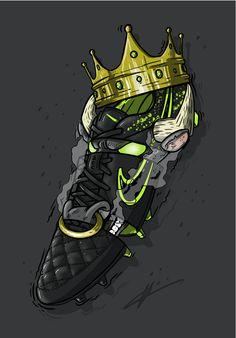 "Football Art - Nike Tiempo Legend 4 ""Electro Flare"""