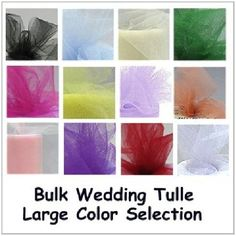 Wedding Tulle - Click on image above for  color selection plus the perfect width for pew bows