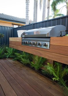5 deck design ideas - Welcome! Outdoor Bbq Kitchen, Outdoor Kitchen Design, Outdoor Kitchens, Better Homes And Gardens, Backyard Patio, Backyard Landscaping, Backyard Ideas, Terrasse Design, Vertical Garden Design