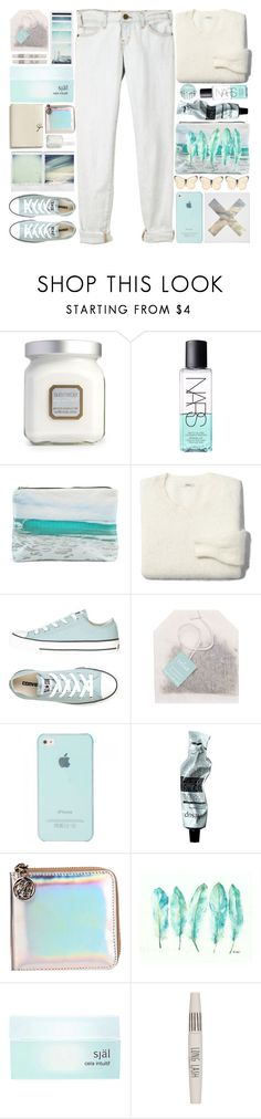 """""""Cool Breeze"""" by sarahkatewest ❤ liked on Polyvore featuring Laura Mercier, NARS Cosmetics, Current/Elliott, Samudra, Madewell, Converse, Paper Source, Aesop, Kzeniya and WALL"""
