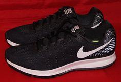 hot sale online 41158 c50c0 Nike Air Zoom Pegasus 33 Men s Running Shoe Black White Anthracite Sz 12 NEW