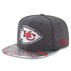 ae6ed6c40f7 Men s Kansas City Chiefs New Era Graphite NFL Spotlight Original Fit 9FIFTY  Snapback Adjustable Hat Nfl