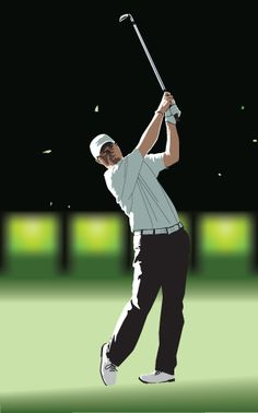 vector, illustration, sport, golf