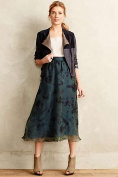 Anthropologie - Organza Midi Skirt