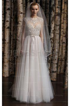Attractive Court Train Zipper Natural A-line Wedding Dresses - A-line Wedding Dresses - Wedding Dresses - Dresshop.com.au