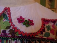 hand embroidery & vintage rick rack trim