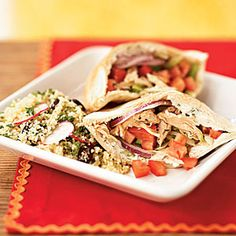 Superfast Mediterranean/Greek Recipe.... Chicken Souvlaki (THIS IS YUMMY!!! fo sho lo!!! - the Greek sauce is out of this world.. A dish that you MUST try!!!) =)....  CookingLight.com