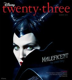 The summer 2014 issue of Disney twenty-three features a striking image of Angelina Jolie, who takes on the title role of one of Disney's most iconic villains in the upcoming Maleficent. Maleficent Quotes, Disney Maleficent, Disney Villains, Old Disney, Disney Girls, Disney Magic, Pixar Movies, Disney Movies, Disney Stuff
