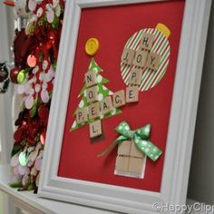 Christmas Scrabble Art {Christmas Decorations} Repurpose some scrabble tiles that are missing too many pieces to play an actual game into a fun piece of… Christmas Crafts For Adults, Christmas Gift Decorations, Christmas Ornament Crafts, Handmade Christmas Gifts, Christmas Art, Holiday Crafts, Holiday Fun, Christmas Ideas, Christmas 2016