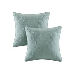 Madison Park Mansfield Quilted 2-piece Throw Pillow Set, Green