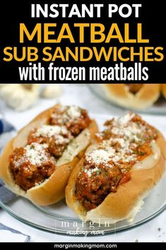 There's no shame in using frozen meatballs to make Instant Pot meatball subs! Mama needs shortcuts from time to time, and this is it! Super easy pressure cooker dinner idea for your busy weeknight.