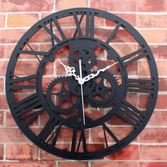 Wall Clock Saat  Gear Clock Reloj Relogio de Parede Duvar Saati Horloge Murale reloj de pared Rivet Metal Clocks Home Decoration-in Wall Clocks from Home & Garden on Aliexpress.com | Alibaba Group