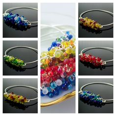 Colorful Shaggy Bangle Bracelet Kits
