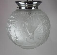 Vintage Original ART DECO Lampe Leuchte sign Muller Freres