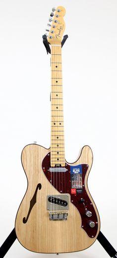 Fender American Elite Telecaster Thinline Electric Guitar Natural