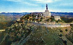 Aerial view of Cristo el Rey on Cerro del Cubilete, Guanajuato, Mexico by Striderv, via Flickr