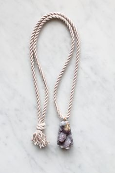 Rope and amethyst necklace